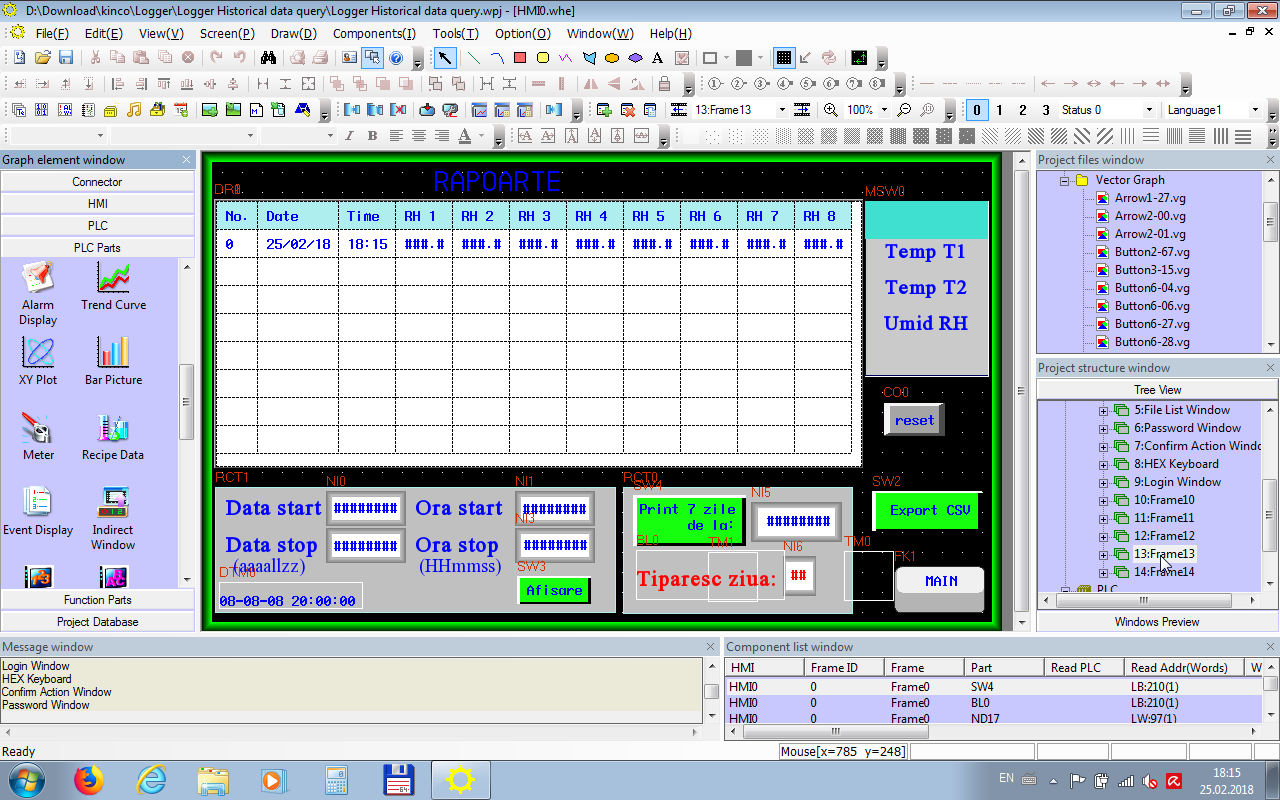 Software SCADA HMI Rapoarte Design