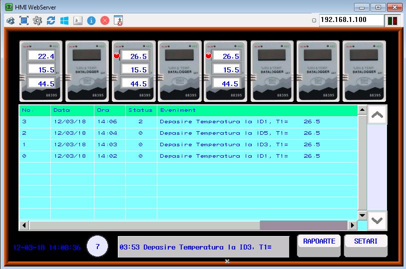 VNC - ecran HMI monitorizare de la distanta