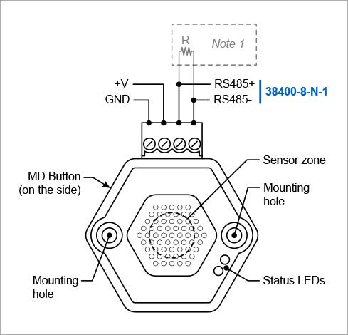 Conectare Senzor de temperatura si umiditate RS485
